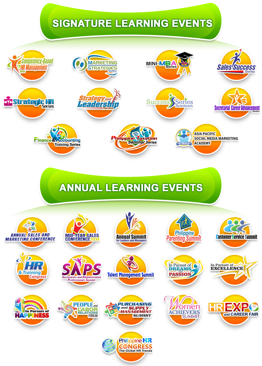 SERIES OF LEARNING EVENTS 2014 2914