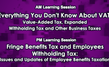 Everything You Don't Know About VAT / Fringe Benefits Tax and Employee's Withholding Tax